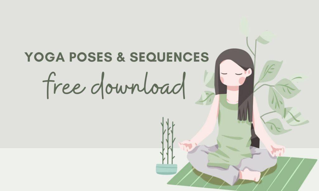 free yoga poses illustrations